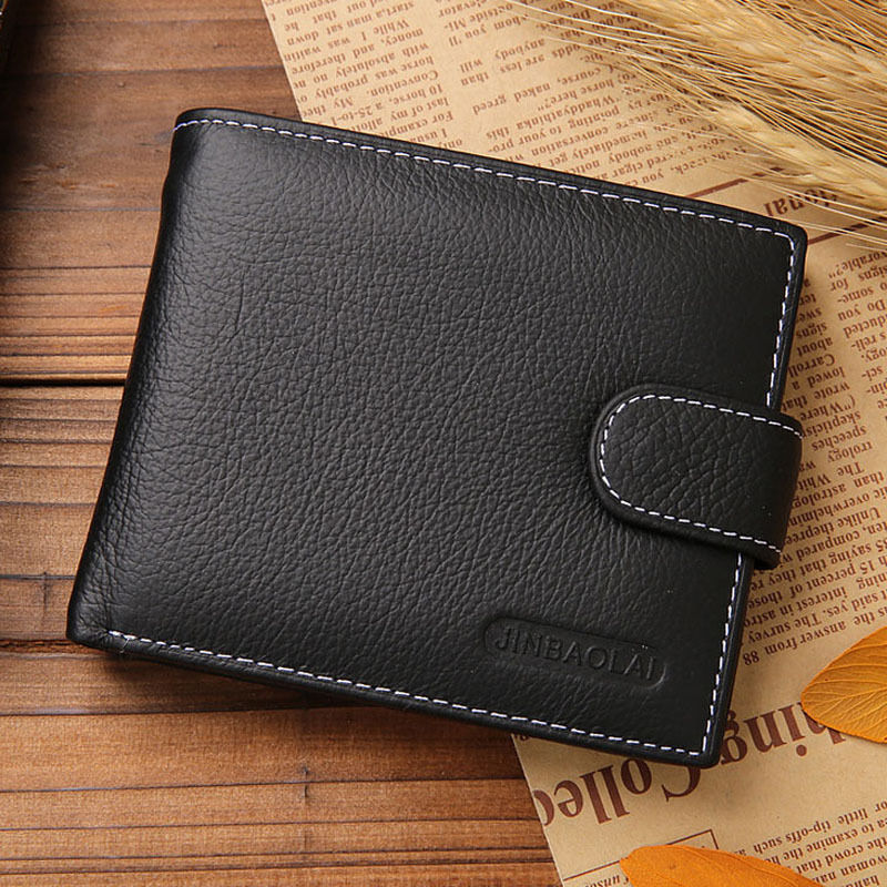 New Arrival Men's Genuine Leather Bifold Wallet Fashion Mens Clutch Wallet with Coin Pocket Purse Carteira Masculina Couro Black zelda wallet bifold link faux leather dft 1857