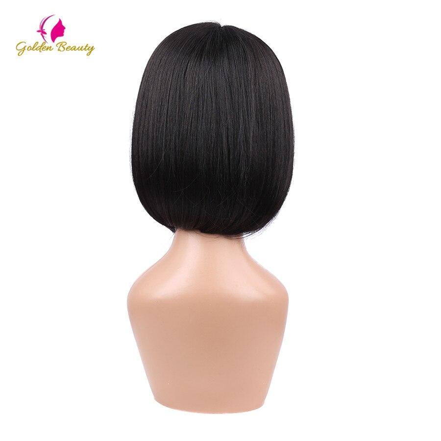 Golden Beauty 8inch Bob Cut Wig Kort Syntetisk Snörning Frontparykar - Syntetiskt hår - Foto 5