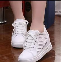 White Fashion women wedge shoes High Top Casual Womens Floral Shoes  women Shoes For Women