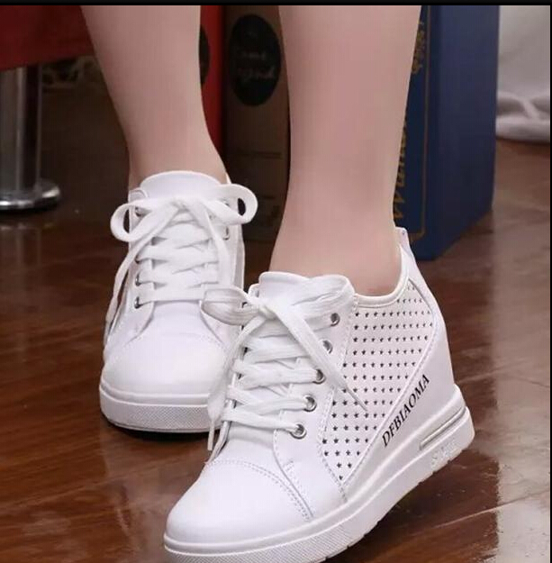 White Fashion women wedge shoes High Top Casual Womens Floral Shoes women  Shoes For Women-in Women s Vulcanize Shoes from Shoes on Aliexpress.com  2db5c9195