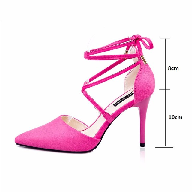 be4cf186e6bb women sexy pink black gray fine high heels sandals shoes ladies pumps  pointed toe thin heels wedding spring fall shoes sandals