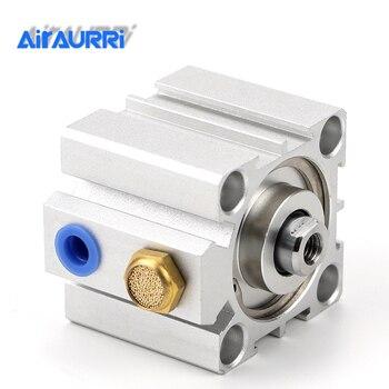 цена на Compact cylinder single acting-push SSA series  bore 16 20 25 32 40 50 63 80 stroke 5mm 10mm 15mm 20mm 30mm 40mm 50mm