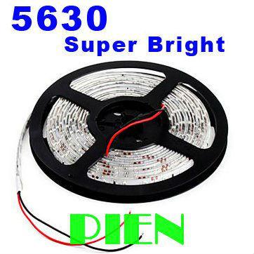 5630 LED Strip Light 5730 smd fita de tiras tape luz 5m 300 LEDs blue 4000K blanco waterproof IP65 12V Free Shipping 5M