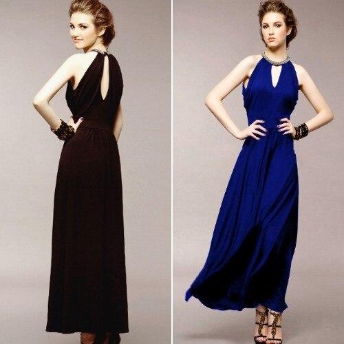 Free Shipping New Spring Summer Women's Maxi Dress Fashion Elegant Beaded Sleeveless Long Slim Dresses Party Skirt Wholesale