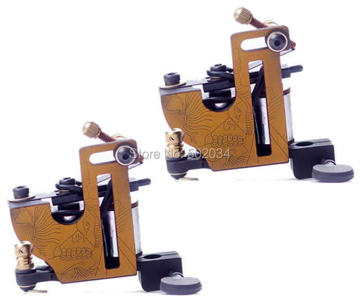 Freeshipping 2pcs/Lot Pro Iron Tattoo Machine guns 10 12 Wrap Coils Liner Shader supply MIO for beginner tattoo kits supplies parastone pro 10 статуэтка медсестра profisti parastone