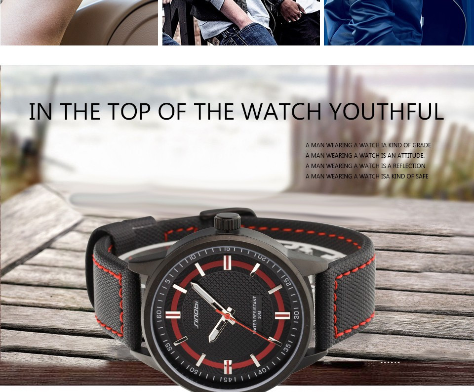 Sinobi 9621 Men Quartz Military Watch