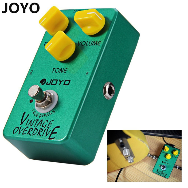 JOYO Electric Bass Guitar Effect Pedal True Bypass Design  Vintage Overdrive DC 9V True Bypass Dynamic Compression dr j d53 sparrow driver di effect guitar electric bass overdrive pedal efeito true bypass free shipping
