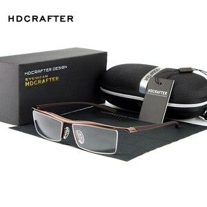 Image 3 - HDCRAFTER 2018 Brillen Randloze Vierkante Bijziendheid Brilmontuur Mannen Merk Comfortabele antislip Brillen Frames voor Mannen