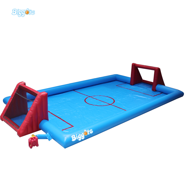 Hot Sale Small Inflatable Soap Water Soccer Football Field for Sale cheap portable small inflatable water soccer football field for kids