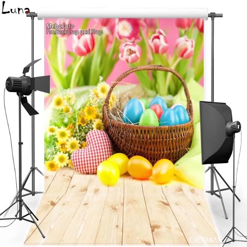 10x15FT-Easter Eggs Children Rabbit Photography Backdrops Wood Floor Photo Studio Background