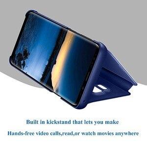 Image 3 - Étui pour Sony Xperia 1 5 XZ3 étui miroir intelligent vue claire en cuir PU béquille couverture rabattable pour Sony Xperia XZ3 Xperia 5 1 étui