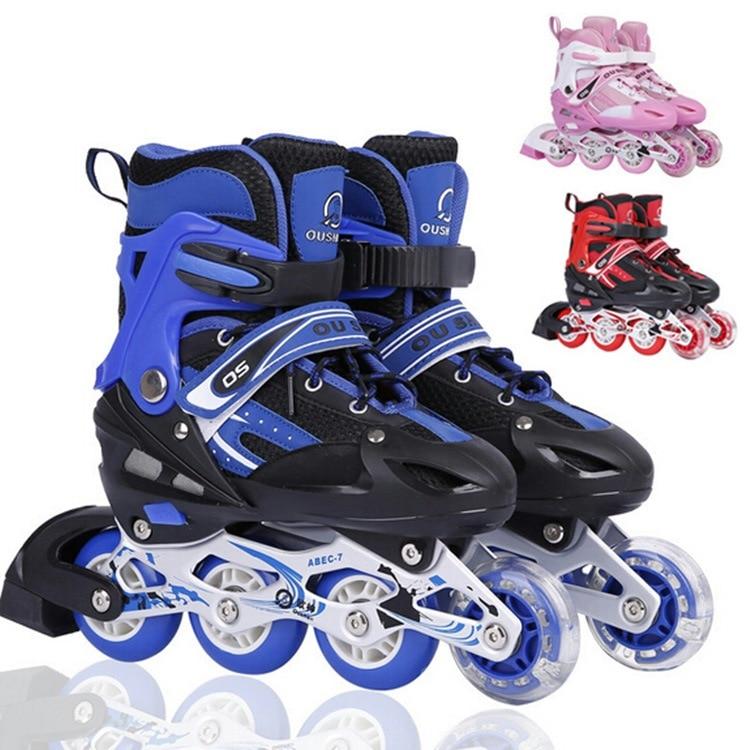 Fashion Design Skate Children Suit Patins Roller Skates Skating Shoes  Rollerblading Adjustable Flash Men And Women 01b3475a9