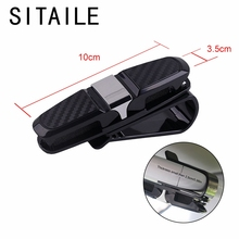 761cc029ad SITAILE Universal Car Sunshade Storage Bag Auto Sun Visor Clip Holder  Ticket Card Pen Interior Accessories