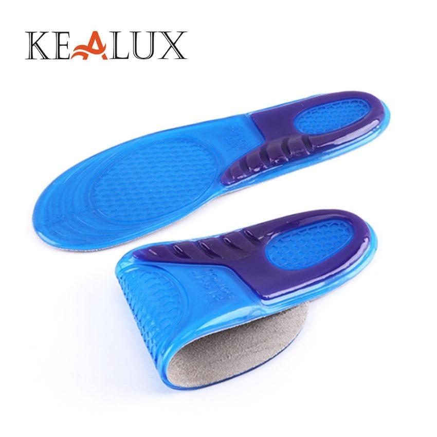 KEALUX Unisex Silicone Gel Shock-Absorbant Insoles Solid Shock Absorption Shoepad Man Women Insoles orthopedic Shoe Inserts
