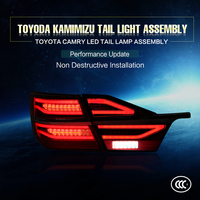 China Import Goods Car Stylings Camry LED Tail Lamp For 2014 2017year Brake Turnning Driving Back