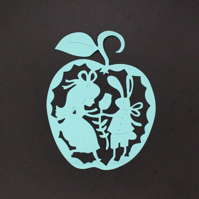103130MM Apple Shape Human Figure Embossing Template Steel Cut Die Stencil DIY Scrapbooking Album