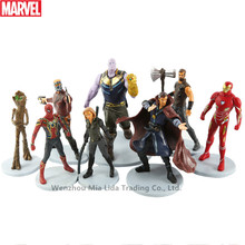 Hasbro Marvel 8pcs Defensive Iron Man Galaxy Guard Star Star Doll Decoration Model Doll Toy Handmade Children's Toys Collection