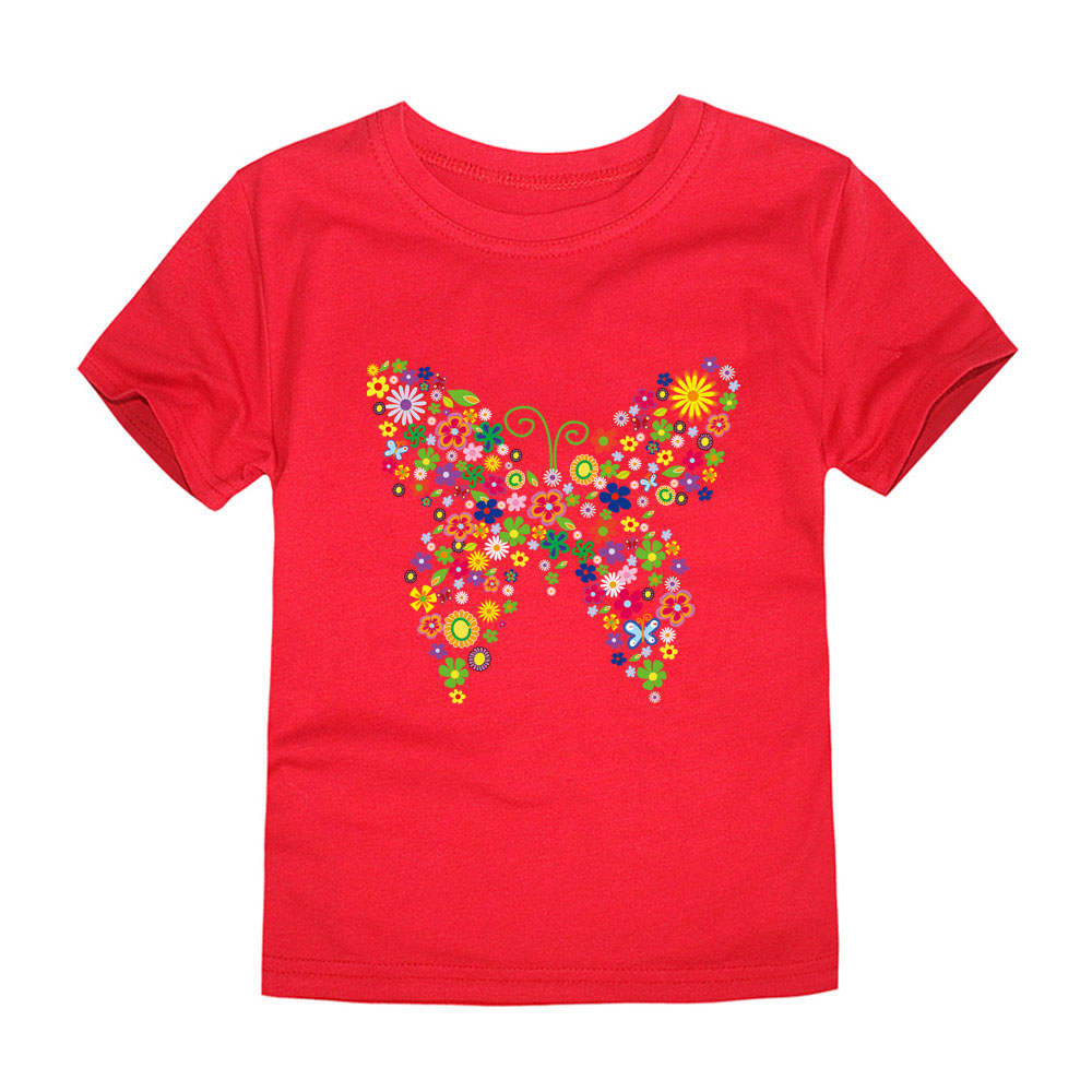 HTB16QcHrxGYBuNjy0Fnq6x5lpXaE - Summer Brand New Baby Girls T Shirts Kids Butterfly Flower T Shirts Children Floral Summer Tops for Girl Tshirt Girl