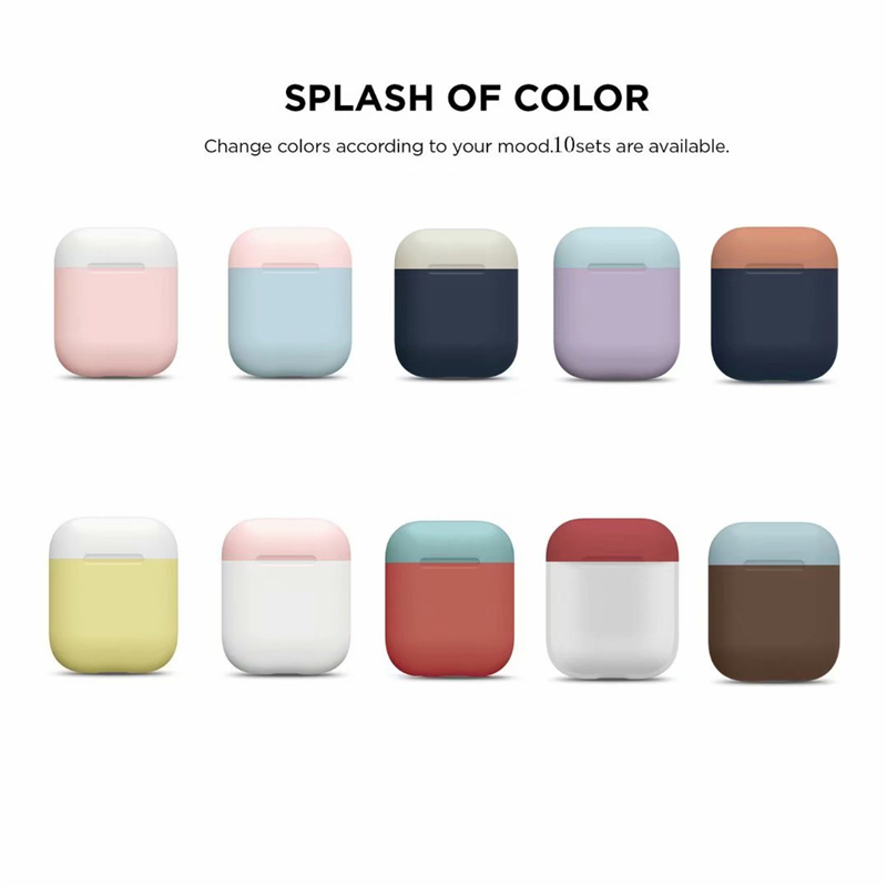 VETOMEET Bluetooth Wireless Earphone Case For AirPods Silicone TPU Ultra Thin For Apple AirPods Multiple Color Mix And Match