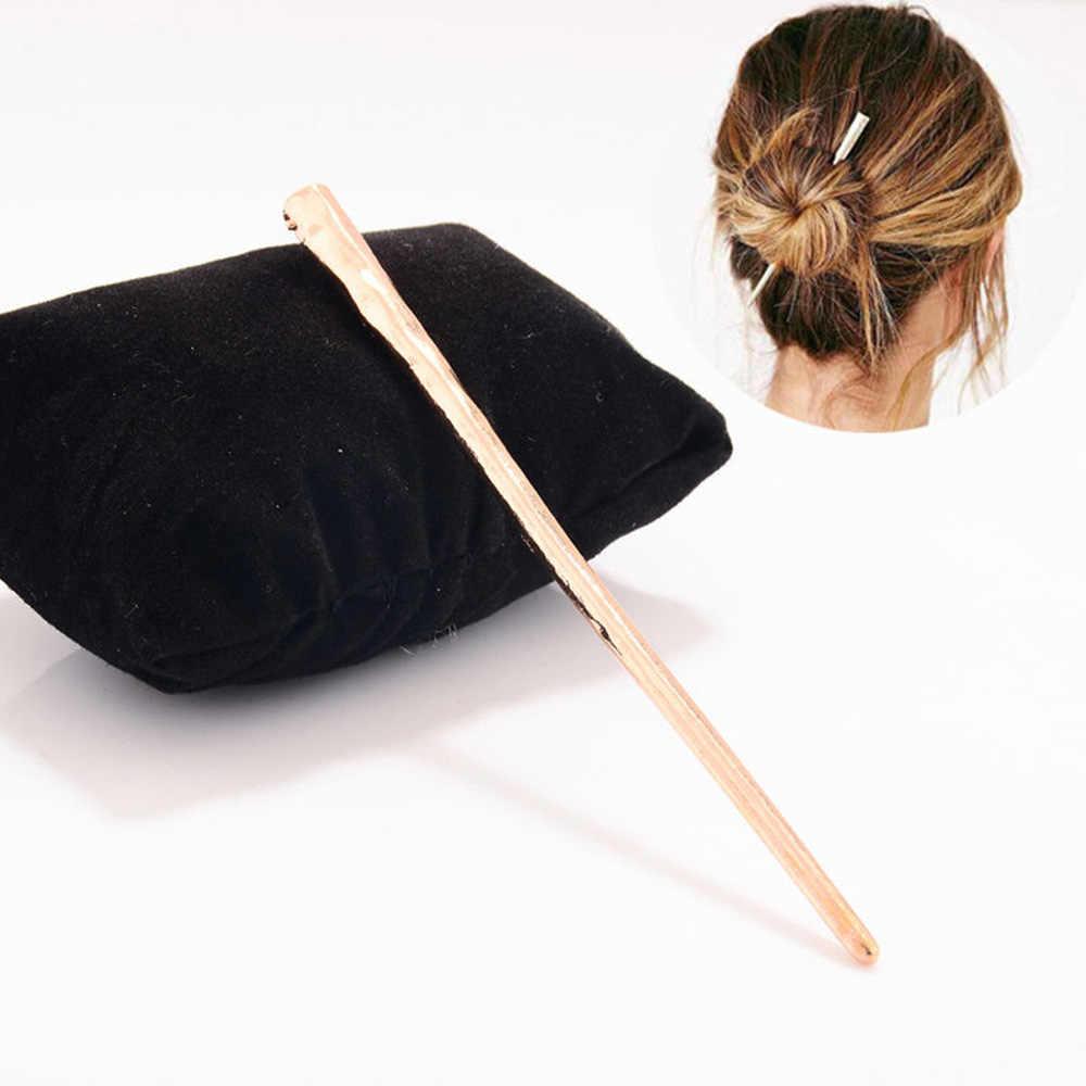2020 חדש פשוט נשים ליידי מתכת שיער מקל שיער סיכת ראש מקלות אכילה סיכת אביזרי חדש אופנה שיער אבזרים