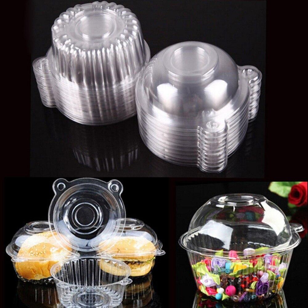 100pcs Lot New Clear Plastic Single Cupcake Cake Case