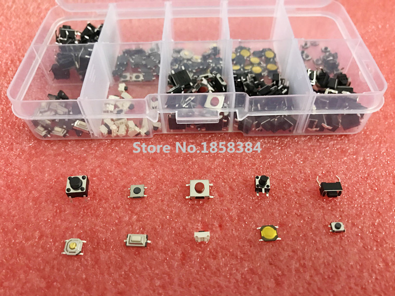 Switches 100pcs 4Legs Tact Switch Soft Rubber Tactile Switches 6.2 ...