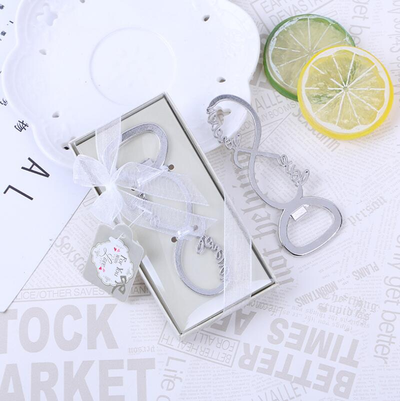 Silver Forever Love Letter Bottle Opener Openers Favors And Gifts Wedding Party Souvenirs Gift For Guests LX4454