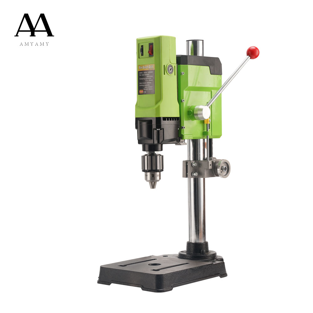 AMYAMY Mini Drilling and milling machine Drill Press Bench drill Small electric Drill Machine with lifting device 220V 1050W|Electric Drills| - AliExpress