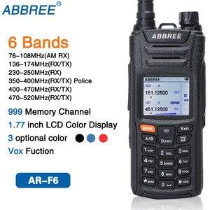Image 1 - AR F6 ABBREE 6 أربطة شاشة عرض مزدوجة الاستعداد 999CH متعدد الوظائف VOX DTMF SOS شاشة LCD ملونة جهاز الاتصال اللاسلكي