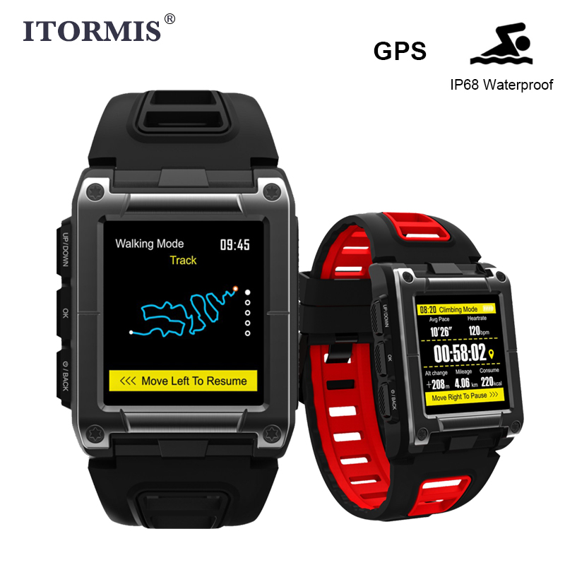 ITORMIS GPS Smart Watch Smartwatch IP68 Waterproof Sport support Swimming Heart Rate Fitness Tracker Men Women for Android IOS itormis bluetooth gps smart watch smartwatch sim card phone watch fitness heart rate tracker multi sport mode for android ios