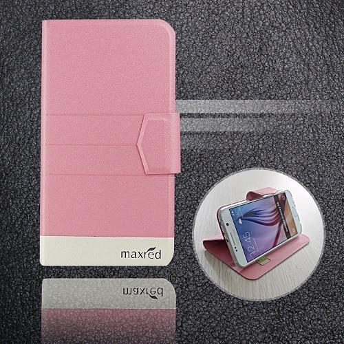 5 цветов хит! Кожаный чехол для телефона Digma LINX Atom 3g, заводская цена, защитный полностью откидной кожаный чехол с подставкой для телефона s - Цвет: Pink