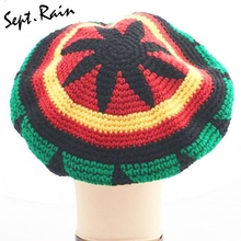 Di modo Unisex Giamaica Rasta Gorro Slouch Beanie Cappello di Inverno Caldo  Lavorato A Maglia Reggae 242558e575ae