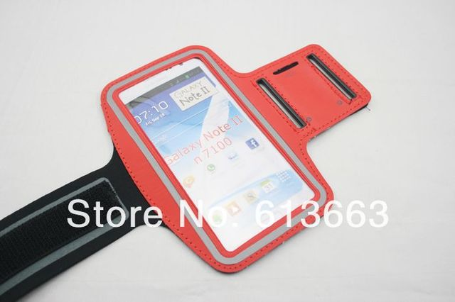Sport ArmBand Case for Samsung galaxy note 2,Solf Belt arm band For Samsung N7100,Free shipping,100pcs/lot