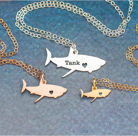 Personalized Shark Necklace Sea Pendant Ocean Charm Shark Jewelry Beach Necklaces Travel Gift Drop Shipping Accepted YP6071
