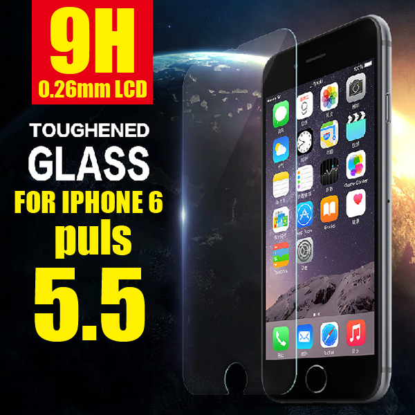 0.26mm Thin Premium Tempered Glass For iphone 6 Plus 5.5inch Screen Protector Film  free shipping