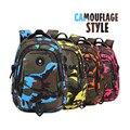 Новый 2017 camuflaje mochila дети ранцы для мальчиков рюкзак камуфляж рюкзак дети синий водонепроницаемый bookbag мужчины рюкзак