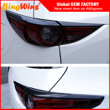 Accessories High Quality Rear Tail Light Lamp Strip Cover Trim FOR Mazda CX5 CX-5 2017 2018 back Light frame stick Car-styling