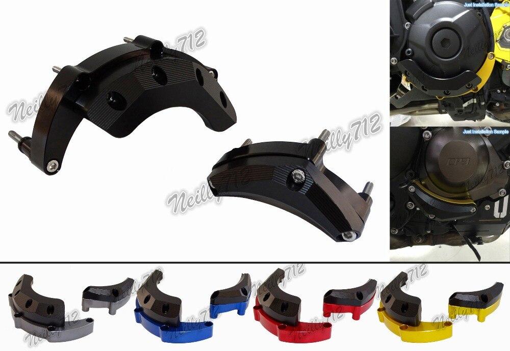 waase Engine Stator Crash Pad Slider Protector For Yamaha MT-09 FZ-09 FJ-09 MT09 FZ09 FJ09 2014 2015 2016 engine bumper guard crash bars protector steel for yamaha mt09 mt 09 fz07 fz 09 2014 2016 2014 2015 2016 motorcycle