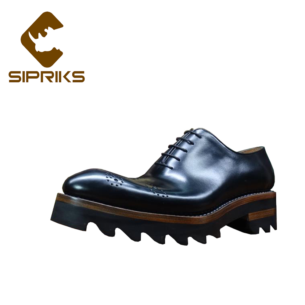Shoes Men's Shoes Sporting Sipriks Luxury Mens Goodyear Shoes Retro Crocodile Skin Mens Dress Oxfords Italian Custom Formal Shoes Gents Suits Male Social