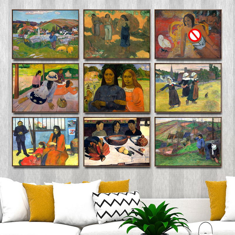 Home Decoration Art Wall Pictures Fro Living Room Poster Print Canvas Paintings French Paul Gauguin 2