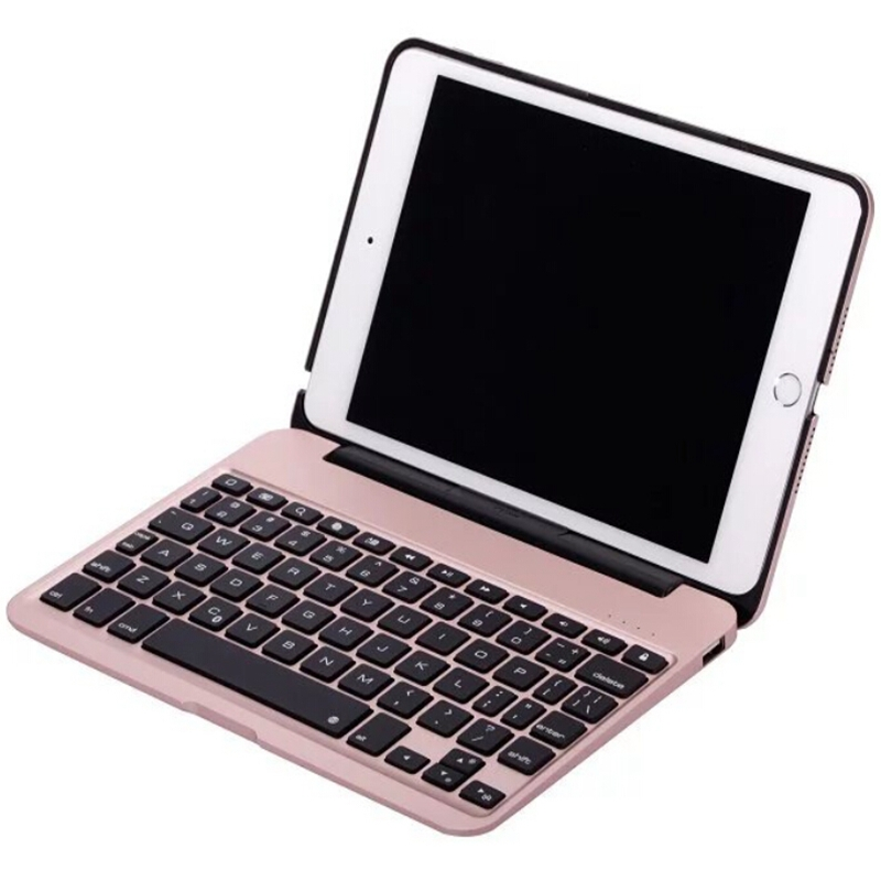 For Apple iPad Mini 4 7.9 inch Slim Portable Laptop Style Wireless Bluetooth Keyboard Case Magnetically Backlit Stand Cover DHL