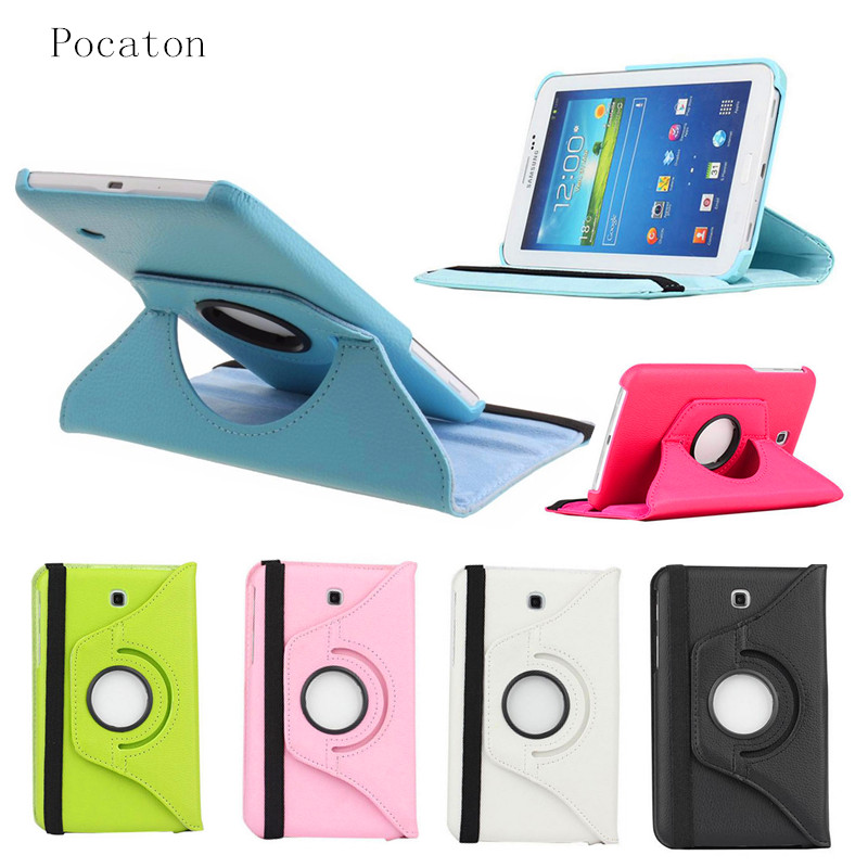 Pocaton 360 Rotating PU Leather case for Samsung Galaxy Tab 4 7.0 with stand function SM-T230 SM-T231 protective Tablet cover стоимость