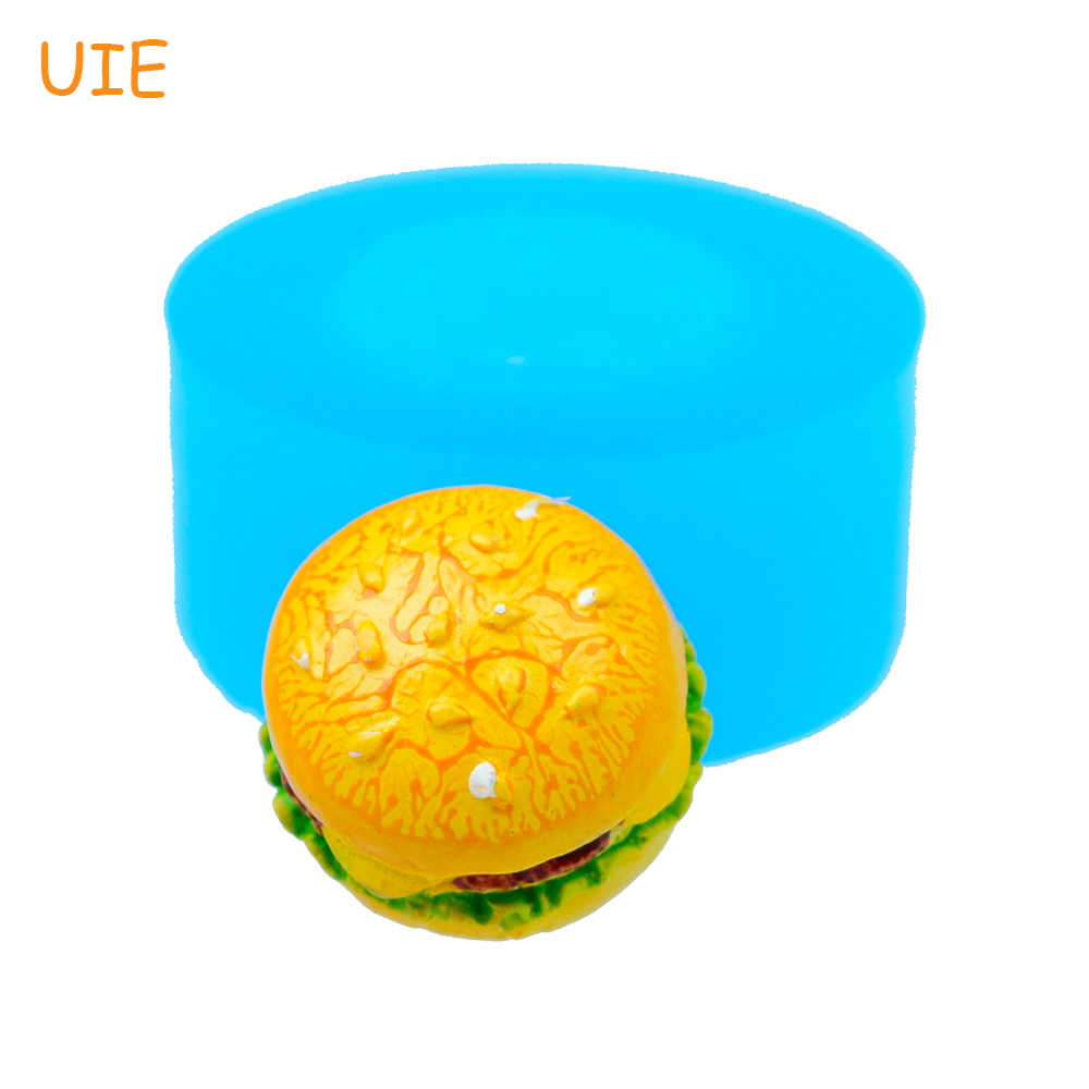 Sincere Gyl357u 15.3mm 3d Hamburger Silicone Mold Food Safe Cookie Biscuit Bun Mold Cake Decorating Tools Fondant Resin Polymer Clay