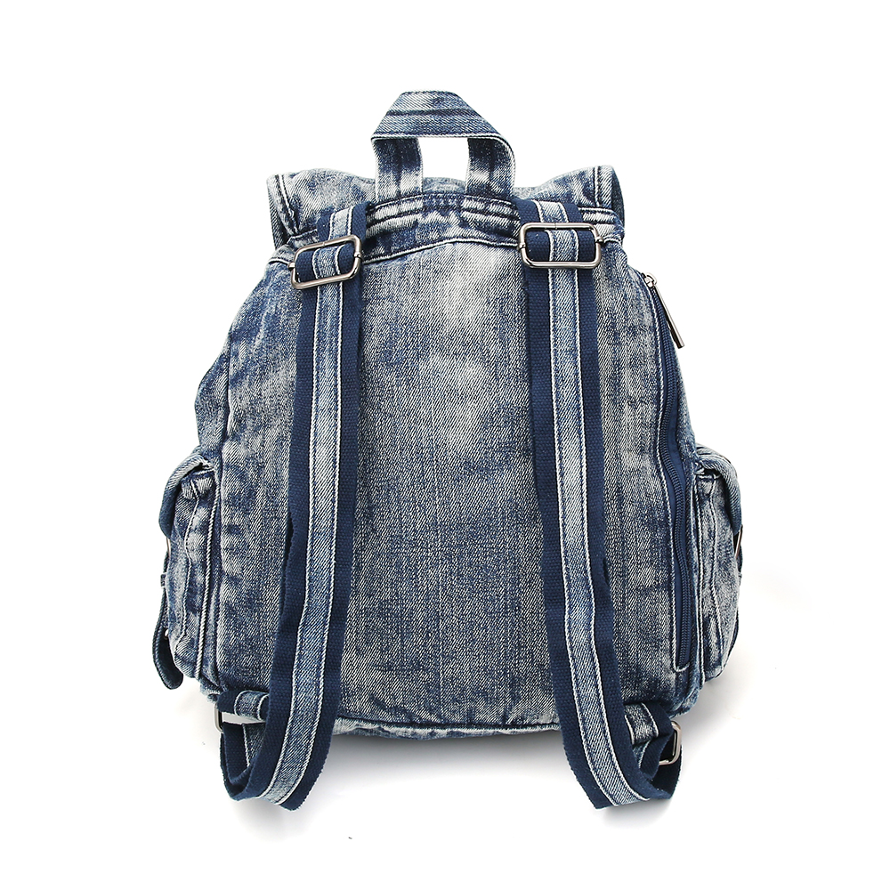 72a2041181 KISS KAREN Fashion Denim Backpack Vintage Studs Women Backpacks ...