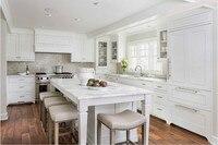 2019 Лидер продаж Новый дизайн американский стиль сплошной деревянные кухонные шкафчики для кухни Классическая кухонная мебель