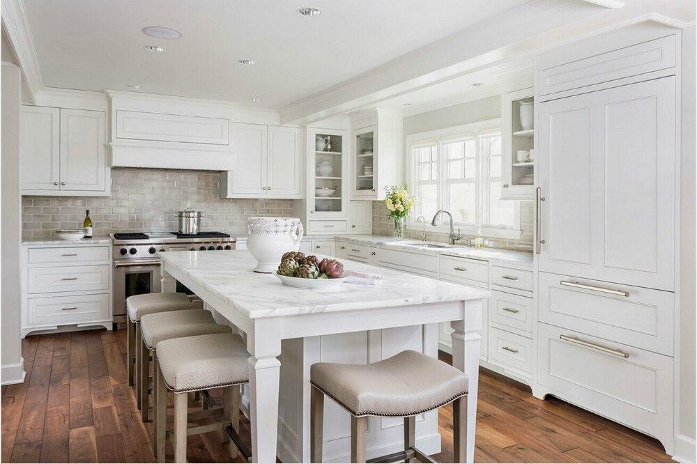 armoires de cuisine en bois massif nouveau design style americain meubles de cuisine classiques offre speciale 2019