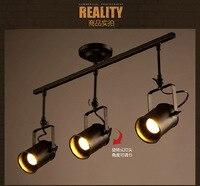 Лофт американский промышленный 5 Вт * 3 отслеживания свет для одежды столовая Бар украшения лампы 90 265 В a151 3