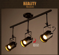 loft American industrial 5w*3 led tracking light for clothes dining room bar decoration lamp 90 265v A151 3