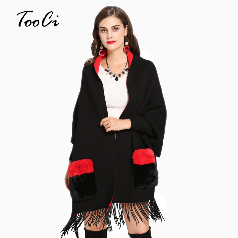 Women Scarf Pocket Ponchos And Capes Winter Women Scarves Long Wrap Shawl Cotton Cashmere Wool Poncho Solid Scarf Cape Cardigan