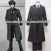 Free Shipping Custom Made Fate Zero Anime Cosplay Emiya Kiritsugu Saber Suit Party Costume
